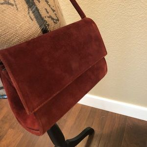 Suede mini purse